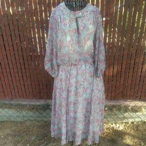 Jonathan Logan [Vintage] | Semi Sheer Midi Dress